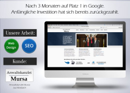 Rechtsanwalt - Anwaltskanzlei - Online-Marketing - SEO
